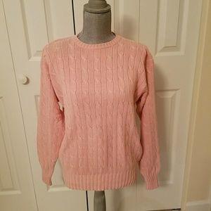 Ralph Lauren cotton cable knit sweatwr